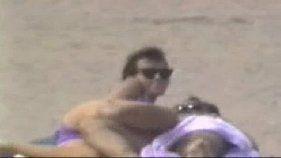 Flagras reais com pornô amador na praia