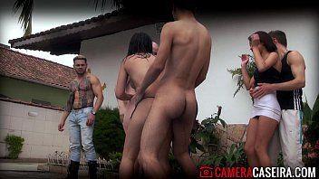Brasileiras gostosas numa festa do porno nacional