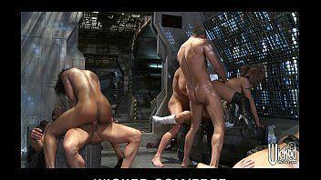Porno bizarro em grupo com as gostosas