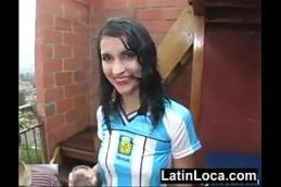 Torcedora de futebol novinha fazendo sexo com amigo após jogo de futebol